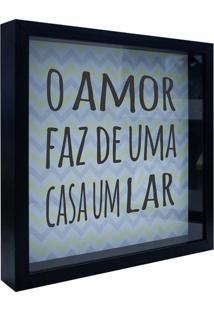 Quadro Decorativo Zig Zag- Preto & Amarelo Claro- 3Xkapos
