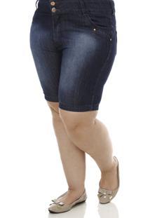 Bermuda Jeans Feminina Uvx - Feminino-Azul