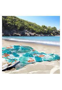 Toalha De Praia / Banho Flamingos Tropical Único