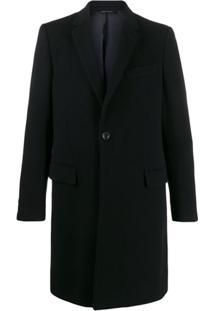 Dolce & Gabbana Sobretudo Com Abotoamento Simples - Preto