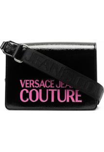 Versace Jeans Couture Bolsa Transversal Com Logo Gravado - Preto