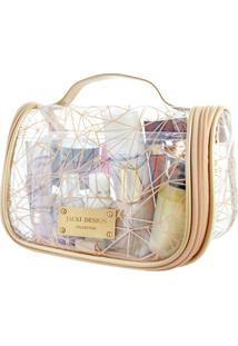 Necessaire De Viagem Transparente Jacki Design Crystal Bege