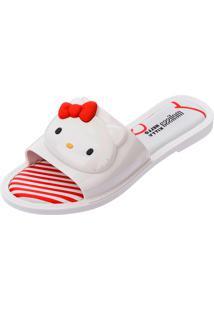 Chinelo Melissa Slipper + Hello Kitty Ad Branco
