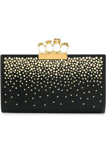 Alexander Mcqueen Clutch Four-Ring - Preto
