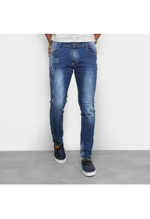 Calça Jeans Skinny Gangster Grafite Stone Masculina - Masculino