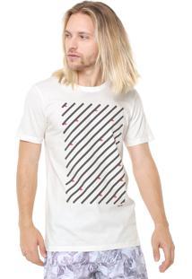 Camiseta Redley Blocos E Quilhas Off-White