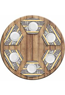 Jogo Americano Para Mesa Redonda Wevans Strip Kit Com 6 Pçs Love Decor