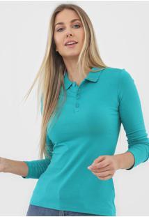 Camisa Polo Malwee Botões Verde