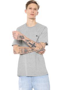 Camiseta Quiksilver Chest Embroi Cinza