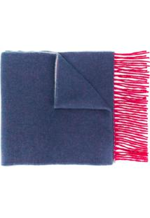 N.Peal Cachecol De Cashmere - Navy Red