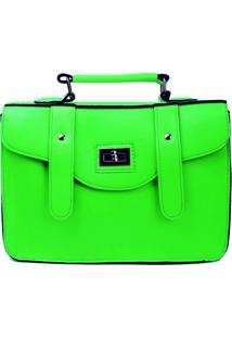 Bolsa Carteiro Real Arte Neon Verde