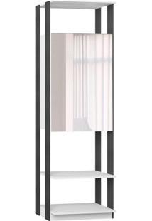 Estante Com Espelho- Espelhado & Branco- 220X70X44,5Bentec