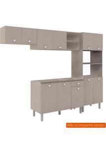Cozinha Compacta Piazza 11 Pt 1 Gv Bege