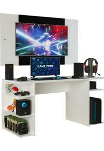 Mesa Gamer Madesa 9409 E Painel Para Tv Atã© 58 Polegadas - Branco Branco - Branco - Dafiti