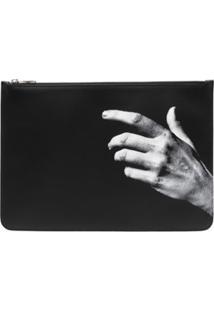 Neil Barrett Clutch The Other Hand - Preto