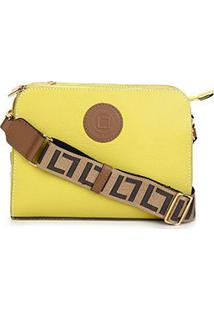 Bolsa Couro Luz Da Lua New Ridge Feminina - Feminino-Caramelo+Amarelo