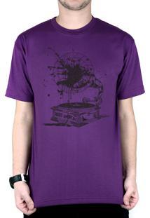 Camiseta Bleed American Vynil Roxo