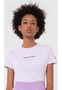 Blusa Calvin Klein Jeans Frase Lilã¡S - Lilã¡S - Feminino - Algodã£O - Dafiti