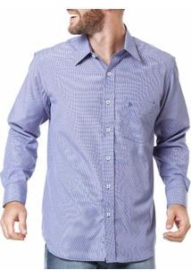 Camisa Manga Longa Masculina Xadrez Lilás - Masculino