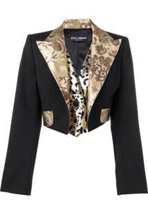 Dolce & Gabbana Blazer Cropped - Preto