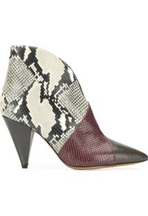 Isabel Marant Ankle Boot Bico Fino - Marrom
