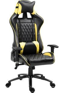 Cadeira Gamer Duty Preta E Amarela