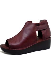 Sandália S2 Shoes Couro Vinho