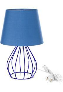 Abajur Cebola Dome Azul Com Aramado Azul - Azul - Dafiti