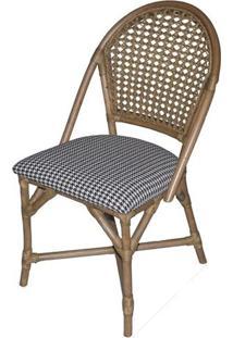 Cadeira Fultow Estrutura Madeira Apui Assento Estampa Pe De Galinha - 44715 - Sun House