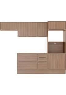 Cozinha Compacta Multimóveis Calábria 5457R.680.680.680 Nogueira Se