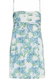 Bernadette Vestido Jules Com Estampa Floral - Azul