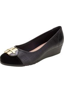Sapato Feminino Anabela Moleca - 5156770 Preto 01 35