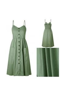 Vestido Martinelli Feminino - Verde Militar