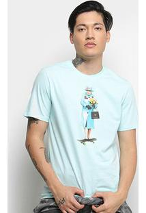 Camiseta Cavalera T Shirt Skate Queen Masculina - Masculino-Verde