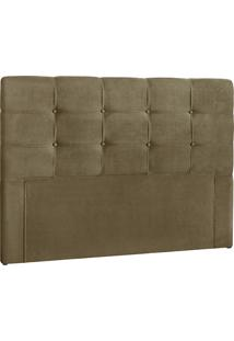 Cabeceira Queen Clean Nobuck Marrom Taupe - Simbal