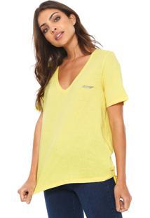 Camiseta Ellus Cotton Gaze Amarela