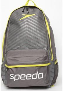 Mochila Essential Sport- Cinza Escuro & Amarela- 43,Speedo