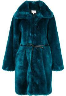 Cinq A Sept Sobretudo Oversized - Azul