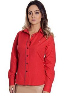 Camisa Pimenta Rosada Daya - Feminino-Vermelho+Cinza