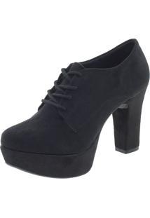 Sapato Feminino Salto Alto Mixage - 2747996 Preto/Camurça