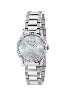 9fc1bfd7b33 Relógio Feminino Gucci Aço De Grife Ya126543 -