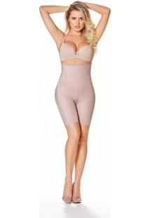 Cinta Modeladora De Perna E Cintura Alta - Feminino-Bege