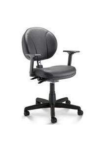 Cadeira Executiva Secretária Soft Slim Preta