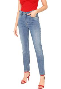 Calça Jeans Carmim Slim Estonada Azul