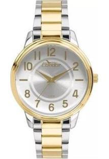 Relógio Condor Co2035Kuv/5B Feminino - Feminino-Prata+Dourado