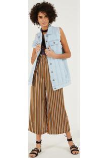 Colete Jeans Com Patch - Azul Claro & Amarelopop Up