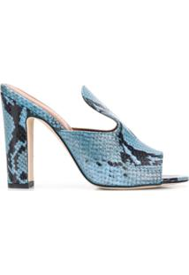 Paris Texas Sandália Peep Toe - Azul