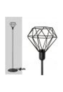 Kit Com 2 Abajur Coluna Diamante - Preto