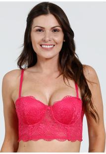 Sutiã Feminino Top Corpete Renda Marisa