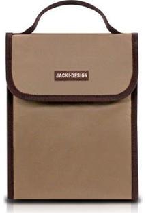 Bolsa Térmica Jacki Design De Poliéster Folha De Alumínio - Unissex-Marrom